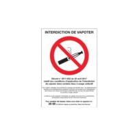 Signalétique Interdiction de vapoter