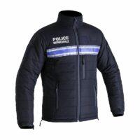 Blouson hiver matelassé Police Municipale de face